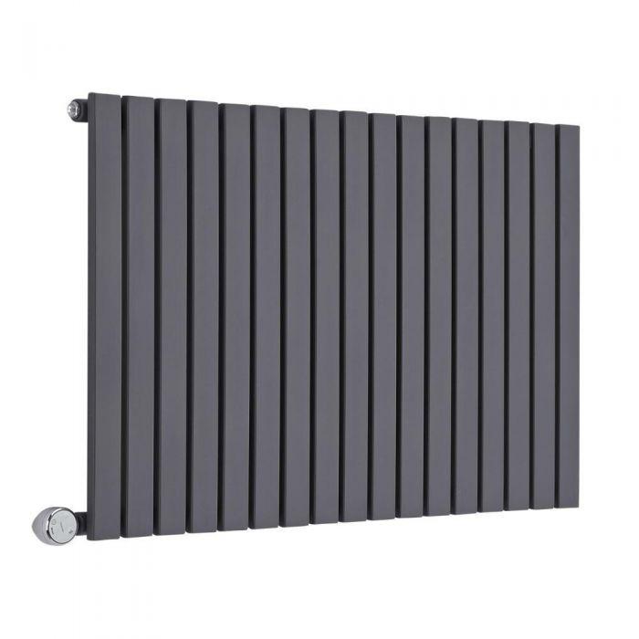 Radiatore di Design Elettrico Orizzontale - Antracite - 635mm x 1000mm x 54mm  - 1 Elemento Termostatico 1200W  - Sloane
