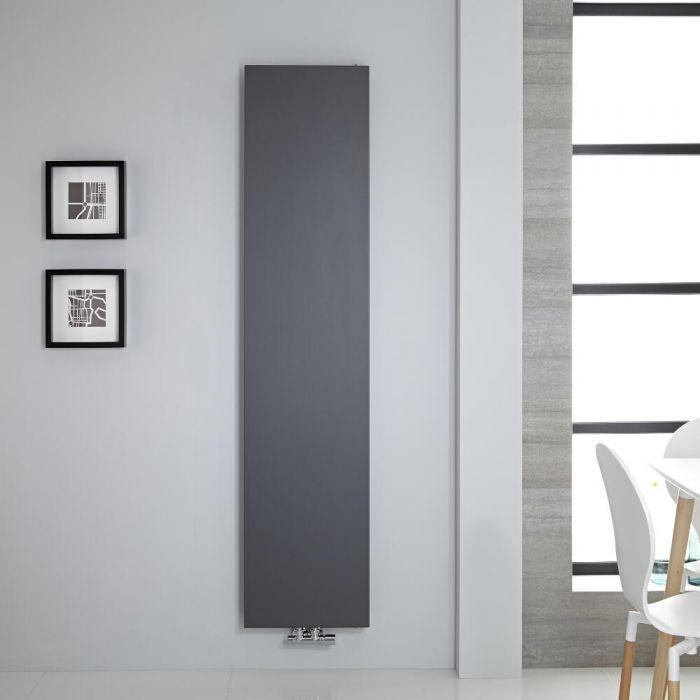 Radiatore di Design Verticale - Piastra Radiante - Attacchi Centrali - Acciaio - Antracite - 1820mm x 400mm - 842 Watt - Rubi
