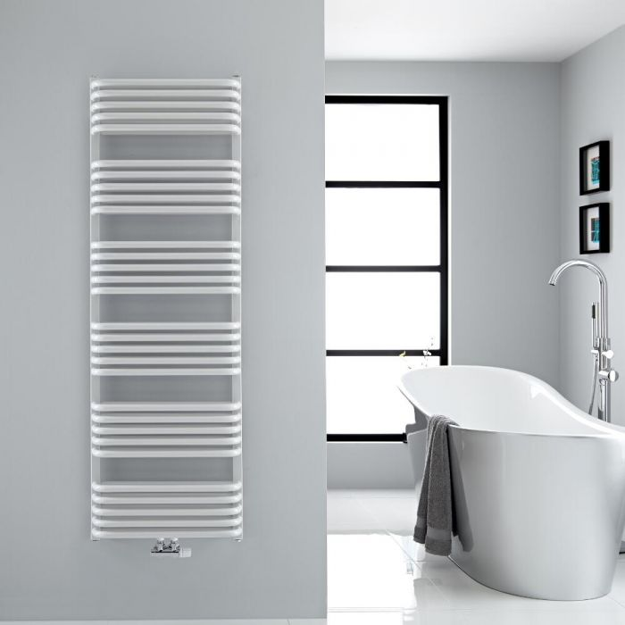 Scaldasalviette con Attacco Centrale - Bianco - 1533mm x 500mm - 1524 Watt - Arch