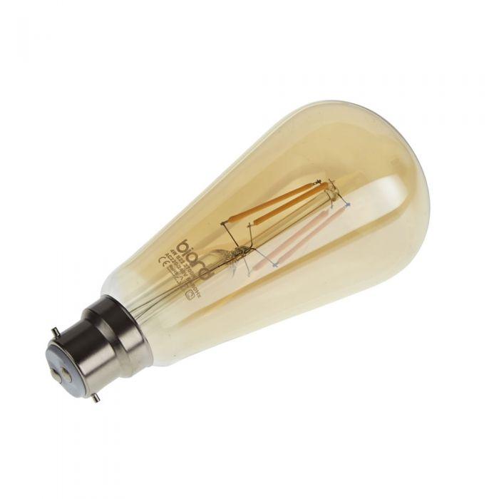 Biard Kit con 6 Lampadine LED Tradizionali con Filamenti LED B22 4W Dimmerabili