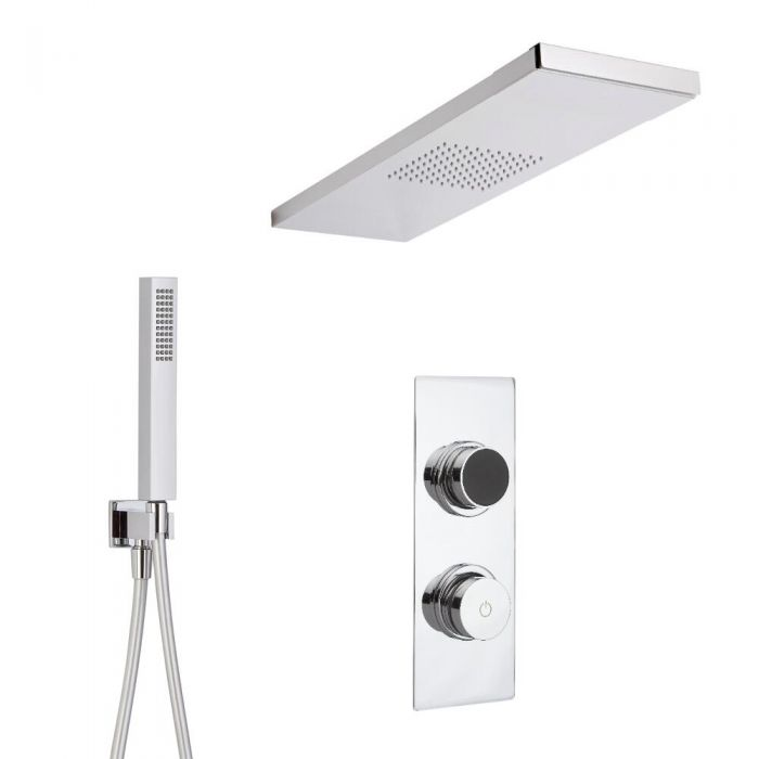 Two Outlet Digital Thermostatic Shower with Glass Grabbing shower head