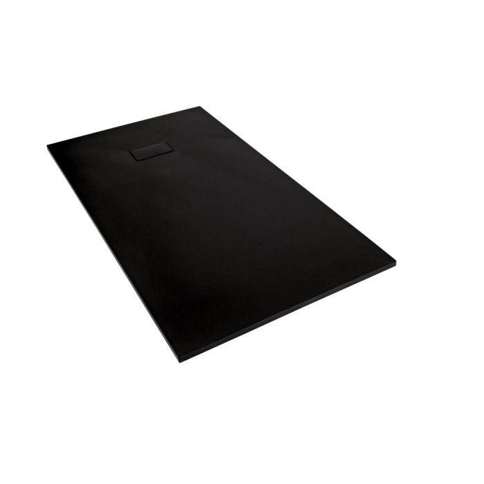 Piatto Doccia Rettangolare Effetto Pietra Colore Grafite 900x800mm