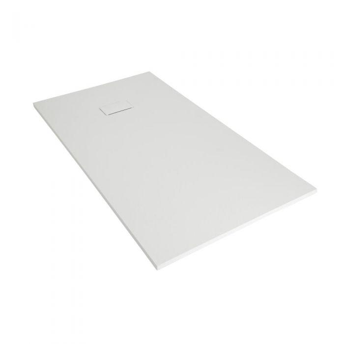 Piatto Doccia Angolare Effetto Pietra Colore Bianco Opaco Disponibile in Diverse Misure