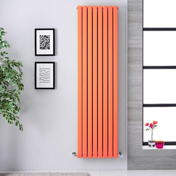 Radiatore di Design Verticale Doppio - Arancione Chiaro - 1780mm x 472mm x 72mm - 1931 Watt - Sloane
