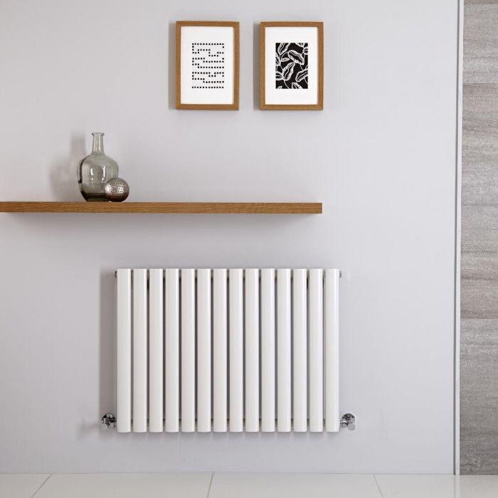 Radiatore di Design Orizzontale - Bianco Antracite - 600mm x 834mm x 56mm - 781 Watt - Revive