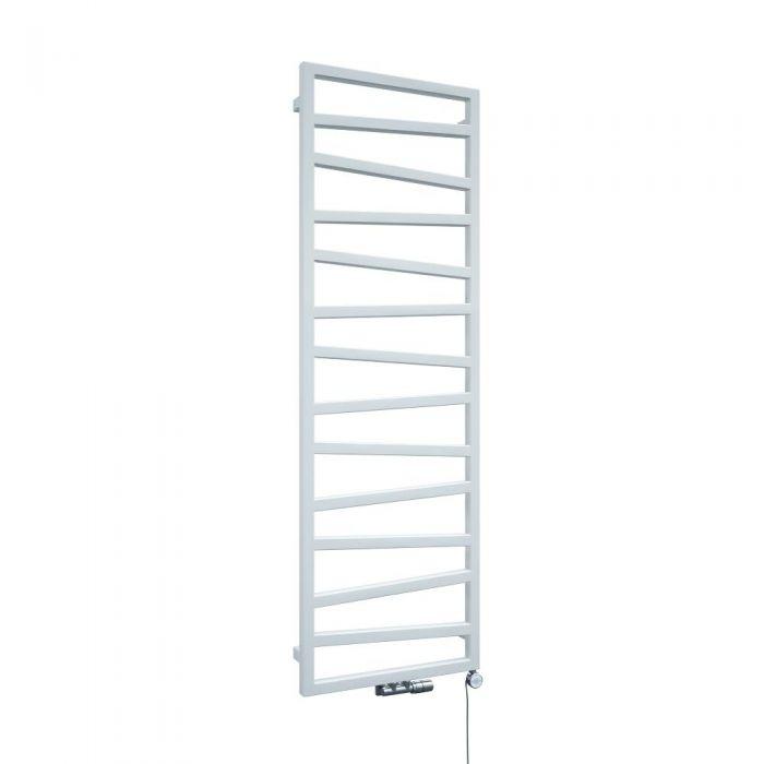 Scaldasalviette di Design Verticale con Attacco Centrale - Bianco - 1545mm x 500mm x 30mm - 736 Watt - Torun