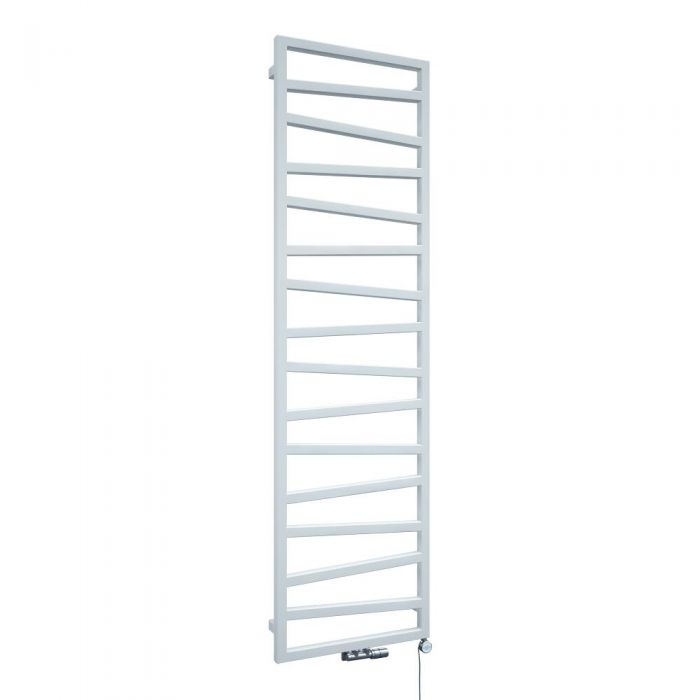 Scaldasalviette di Design Verticale con Attacco Centrale - Bianco - 1780mm x 500mm x 30mm - 794 Watt - Torun
