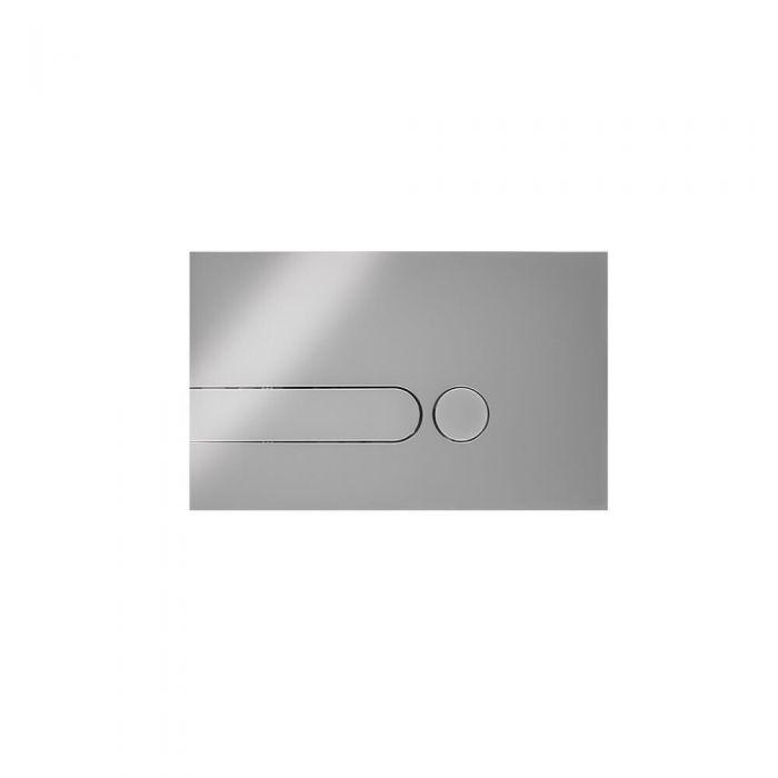 Placca di Comando WC per Cassetta a Incasso Cromato 150x240mm - Cluo