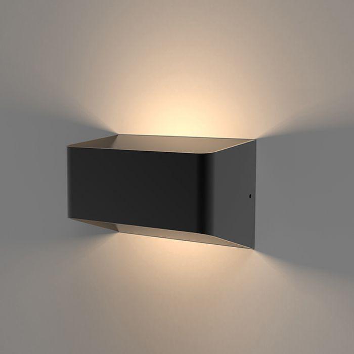 Applique Murale LED da Esterno Quadrata 10W IP54 Nero - Orta
