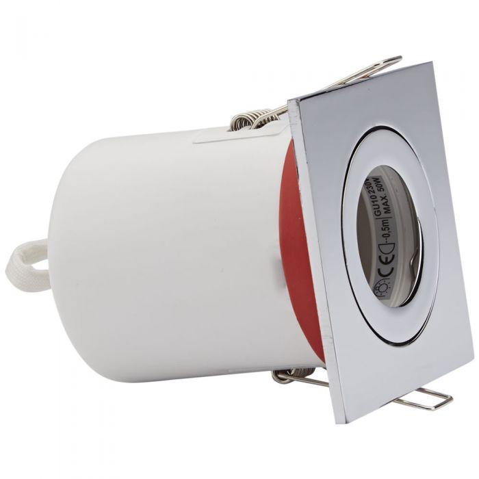 Biard Faretto LED da Incasso GU10 Orientabile IP20 Protezione Ignifuga con Porta Faretto Quadrato Disponibile in 3 Colori