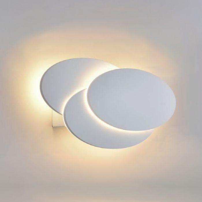 Biard Applique Murale LED Retroilluminata Circolare per Interni Bianca - Piran