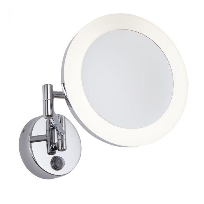 Specchio LED Murale Tondo con Braccio per Stanza da Bagno - Monoun
