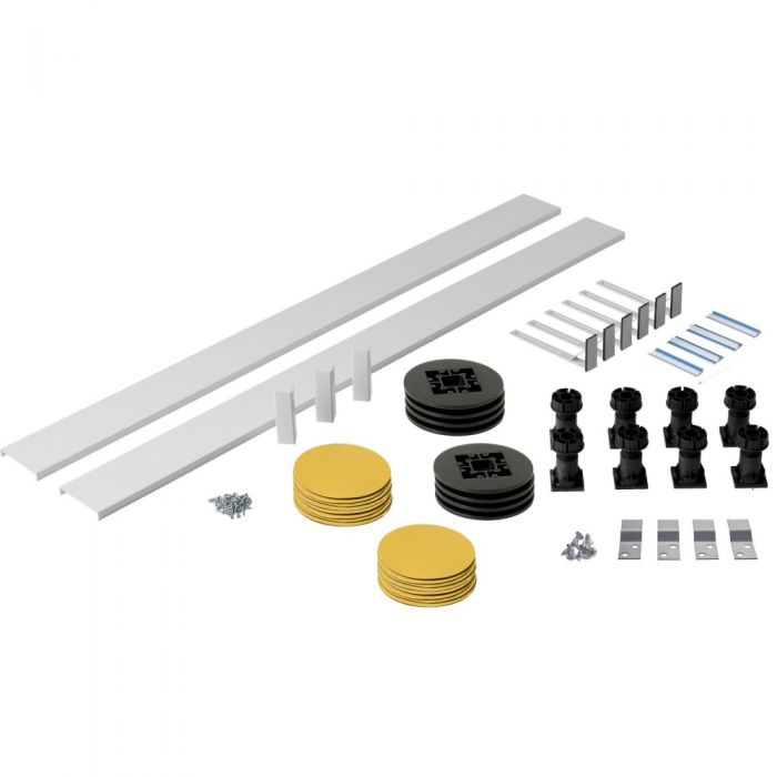 Kit con Struttura di Elevazione per Piatti Doccia Quadrati, Rettangolari e Pentagonali fino a 2000mm