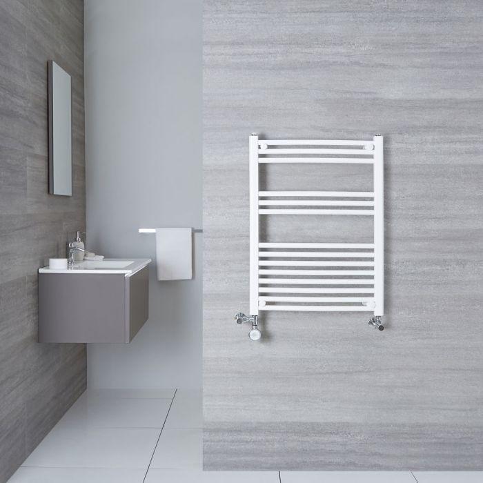 Radiatore Scaldasalviette Misto Curvo - Bianco - 800mm x 600mm x 50mm - 482 Watt - Etna