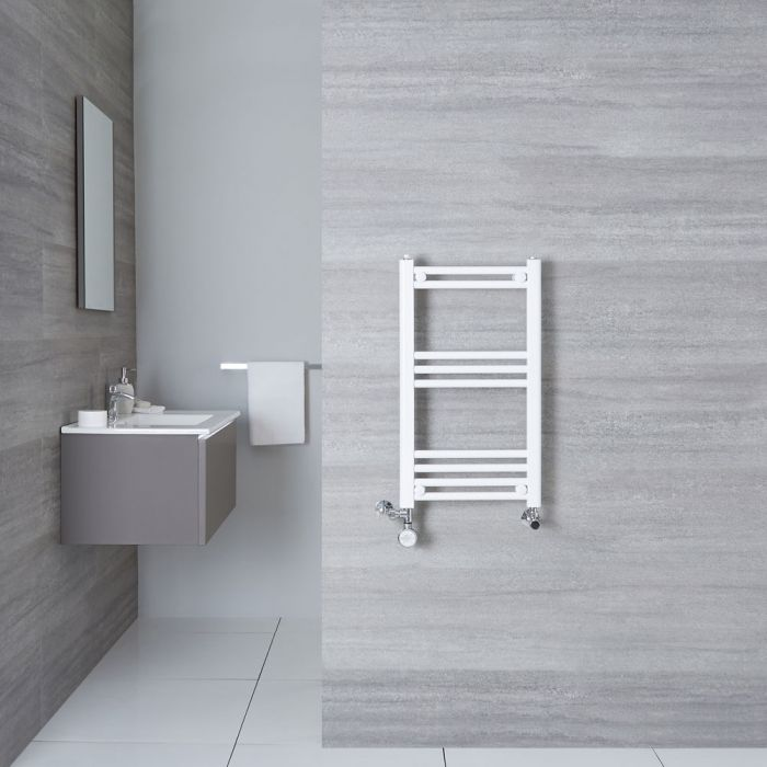Radiatore Scaldasalviette Misto Piatto - Bianco - 700mm x 400mm x 30mm - 280 Watt - Etna