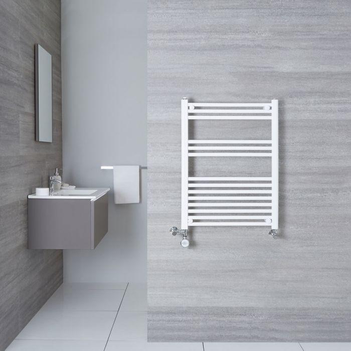 Radiatore Scaldasalviette Misto Piatto - Bianco - 800mm x 600mm x 30mm - 482 Watt - Etna
