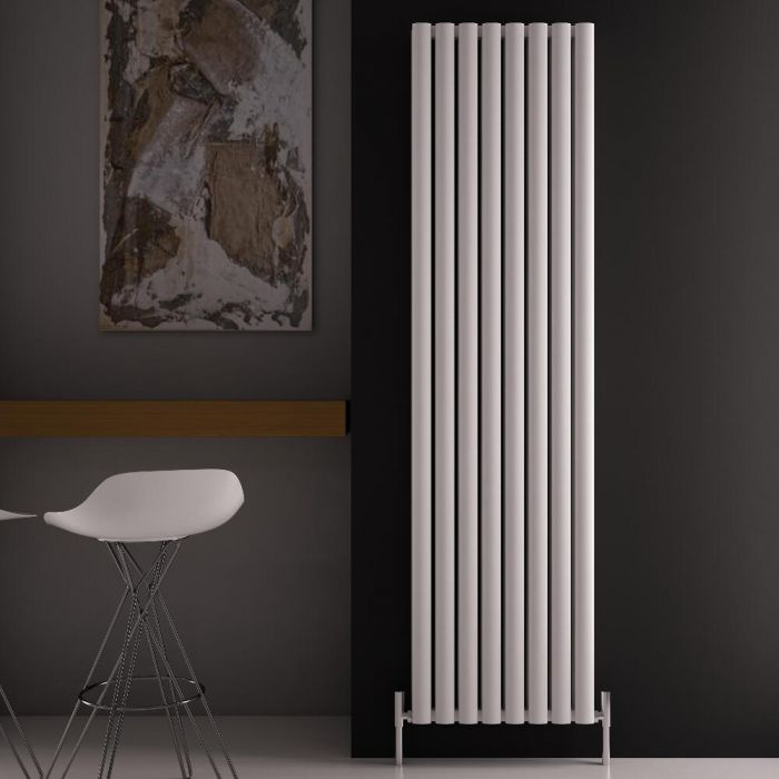 Radiatore di Design Verticale Doppio - Bianco - 1800mm x 470mm x 76mm - 2004 Watt - Revive Air
