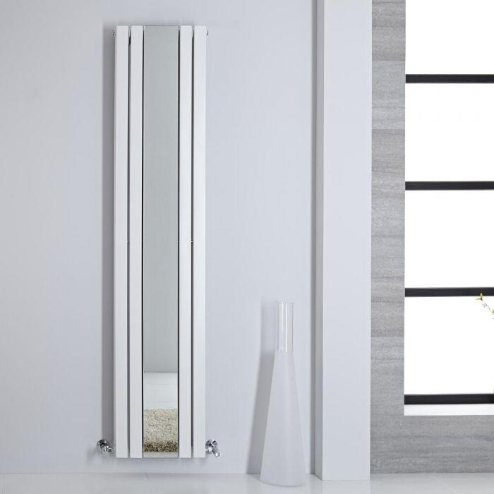 Radiatore di Design - Verticale Con Specchio - Bianco - 1800mm x 385mm - 1344 Watt - Sloane