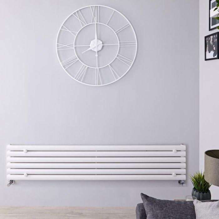 Radiatore di Design Orizzontale  - Bianco - 354mm x 1600mm x 56mm - 815 Watt - Revive