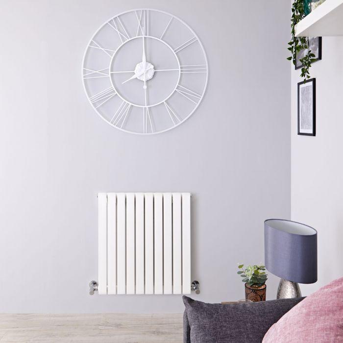 Radiatore di Design Orizzontale - Bianco - 635mm x 600mm x 54mm - 601 Watt - Sloane