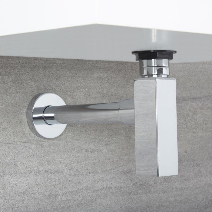 Sifone a bottiglia di scarico Quadrato con Tubo Estensibile per Lavabo e Vasca