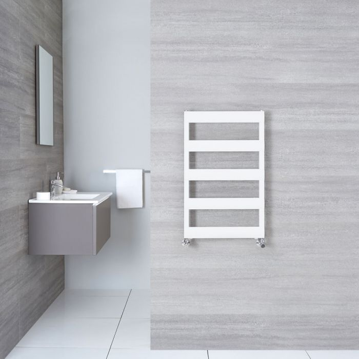 Radiatore Scaldasalviette Piatto - Alluminio - Bianco - 790mm x 500mm x 36mm - 379  Watt - Gradus