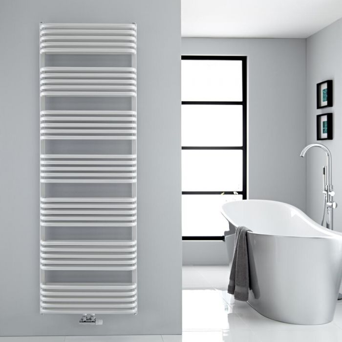 Scaldasalviette con Attacco Centrale - Bianco - 1800mm x 600mm - 2083 Watt - Arch
