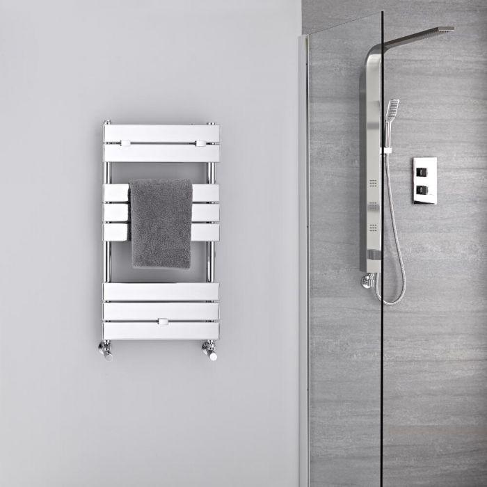 Radiatore Scaldasalviette - Piatto - Cromato - 840mm x 450mm  - 250 Watt - Lustro