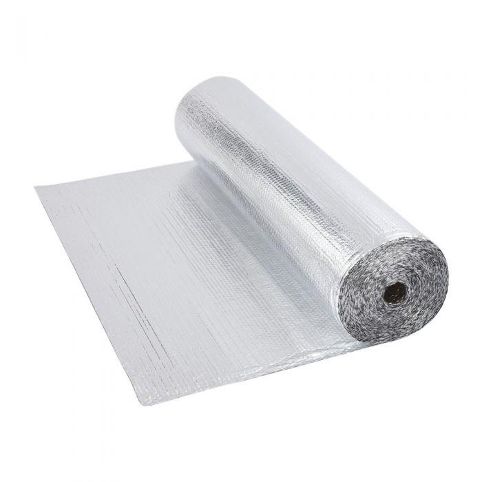 Isolante Termico Multistrato a Bolle d'Aria con Due Fogli di Alluminio - 10m x 1,2m - 12m2