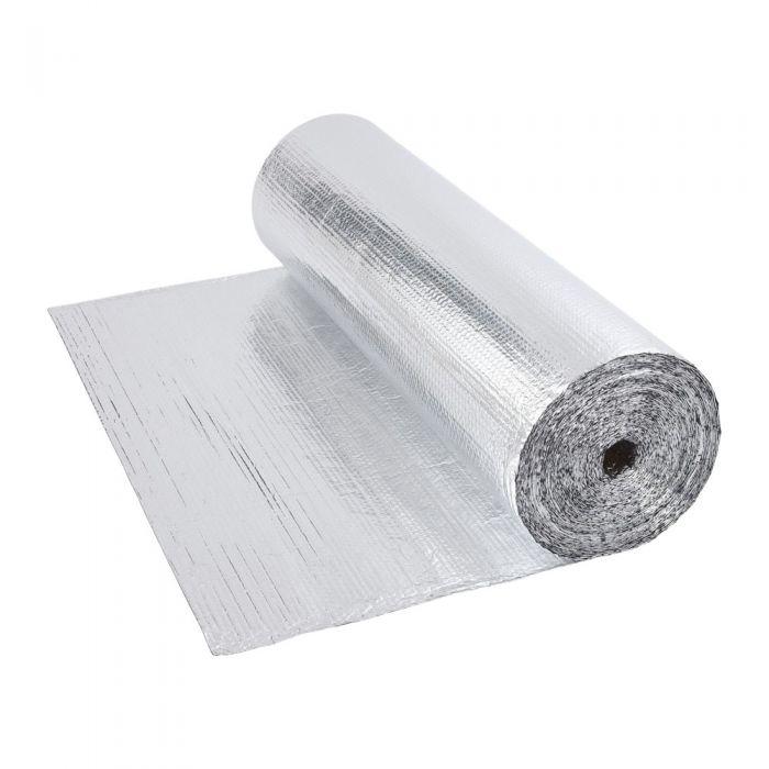 IsolanteTtermico Doppio Multistrato a Bolle d'Aria con Due Fogli di Alluminio - 40m x 1,2m