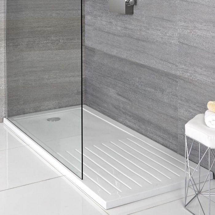 Piatto Doccia Rettangolare 1700x900mm con Sezione per Asciugarsi Duco Stone