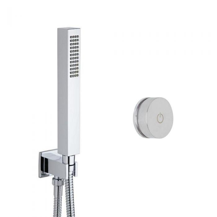Doccia Digitale con Sistema di Controllo ad 1 Via con Doccetta Quadrata - Narus