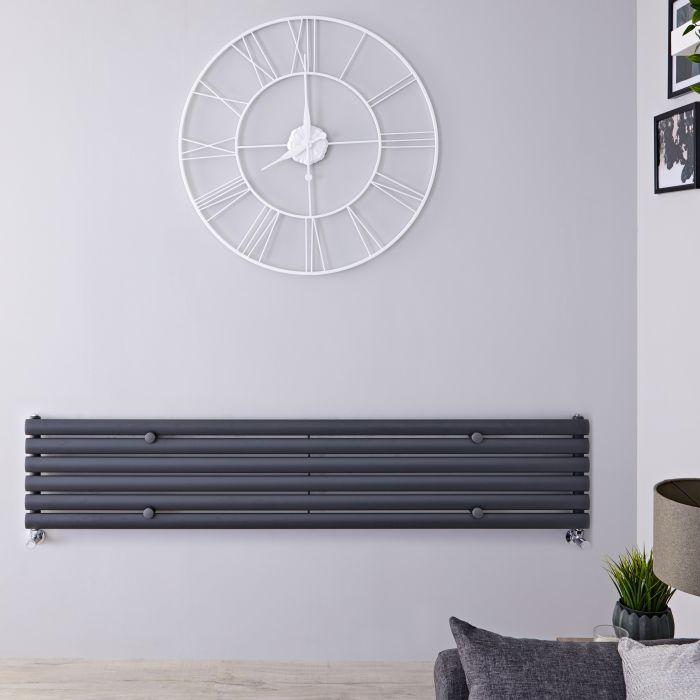 Radiatore di Design Orizzontale - Antracite - 354mm x 1780mm x 56mm - 888 Watt - Revive