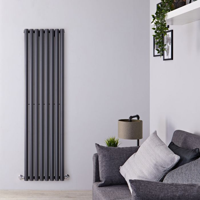 Radiatore di Design Verticale - Antracite - 1780mm x 472mm x 81mm - 1391 Watt - Savy