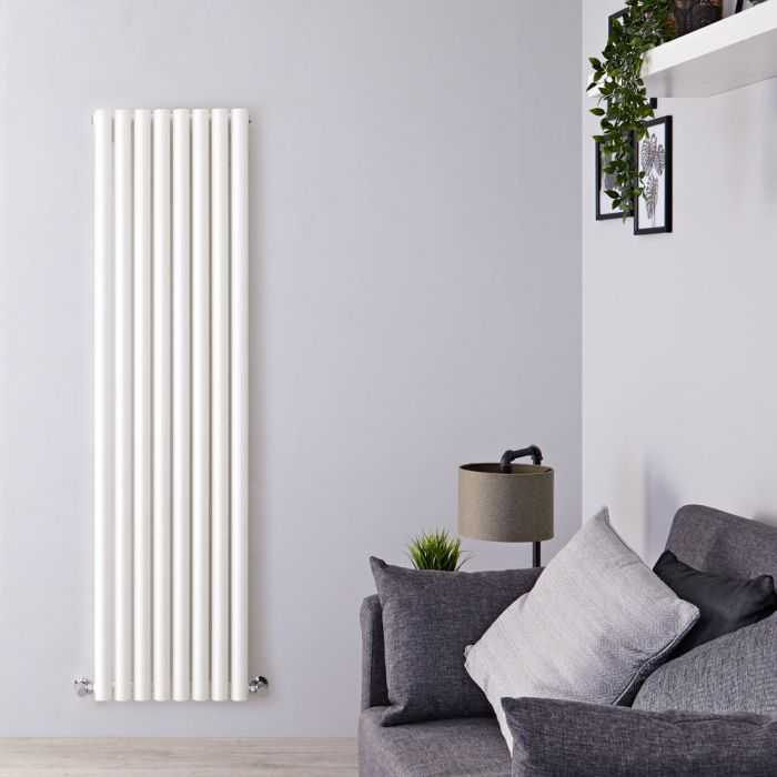 Radiatore di Design Verticale - Bianco - 1780mm x 472mm x 80mm - 1391 Watt - Savy