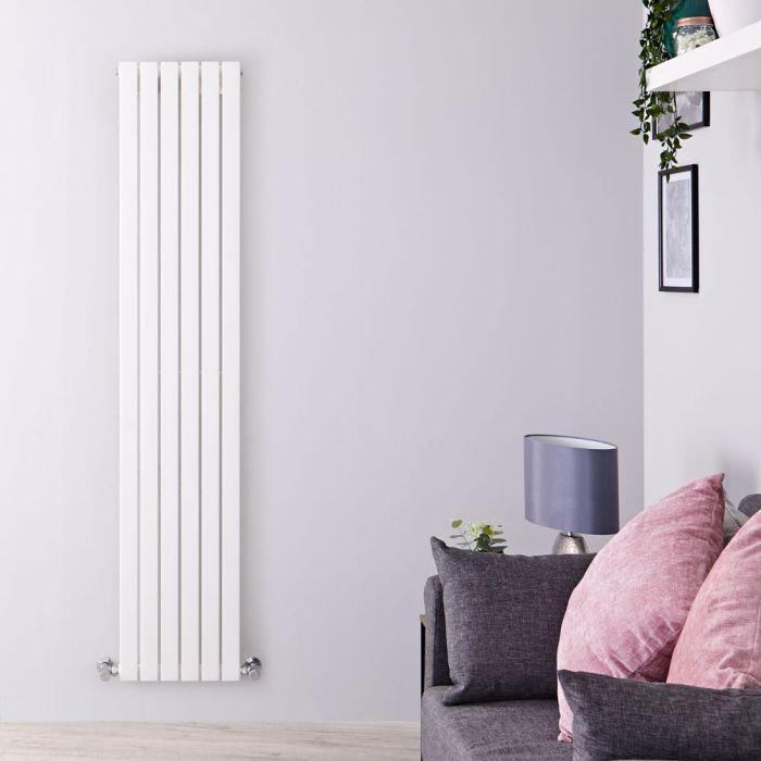 Radiatore di Design Verticale  - Bianco - 1780mm x 354mm x 53mm - 897 Watt - Sloane