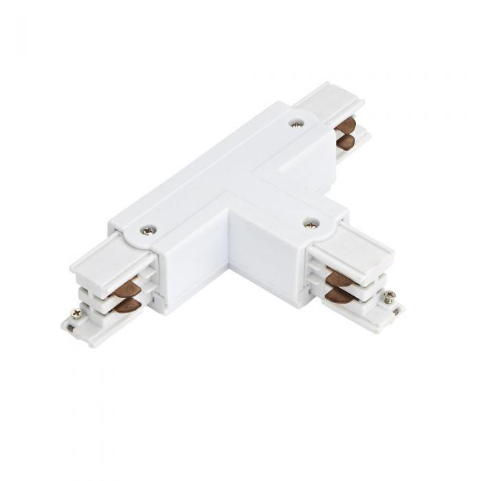 Biard Connettore Tipo T per Binario Trifase - Bianco