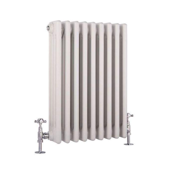 Radiatore di Design Orizzontale a 4 Colonne Tradizionale - Bianco - 600mm x 405mm – 854 Watt - Windsor