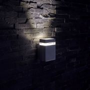 Biard Applique LED Design Quadrata da Parete per Esterno Colore Nero - Architect