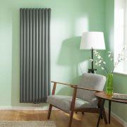 Radiatore di Design Verticale Doppio con Attacco Centrale - Antracite - 1780mm x 590mm x 78mm - 2169 Watt - Revive Caldae