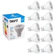 Set 10x Faretti Spot LED da Soffitto 4W Equivalente a 35W