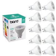 Set 10x Faretti Spot LED da Soffitto Dimmerabile 6W Equivalente a 50W