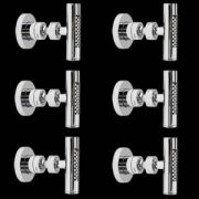 6 Idrogetti Doccia Orientabili Stile Minimalista