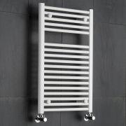 Radiatore Scaldasalviette Piatto - Bianco - 800mm x 500mm x 50mm - 474 Watt - Etna