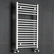 Radiatore Scaldasalviette Piatto - Cromato - 800mm x 500mm x 30mm - 310 Watt - Ischia