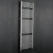 Radiatore Scaldasalviette Curvo - Cromato - 1800mm x 600mm x 52mm - 827 Watt - Ischia