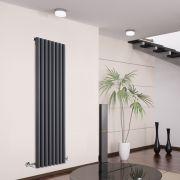 Radiatore di Design Verticale - Antracite - 1600mm x 472mm x 80mm - 1278 Watt - Savy