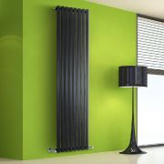 Radiatore di Design Verticale - Nero Lucido - 1780mm x 560mm x 60mm - 1401 Watt - Rombo