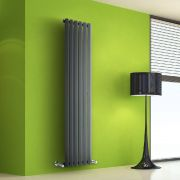Radiatore di Design Verticale - Antracite - 1600mm x 420mm x 60mm - 946 Watt - Rombo