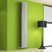 Radiatore di Design Verticale Doppio - Bianco - 1780mm x 280mm x 86mm - 1079 Watt - Rombo